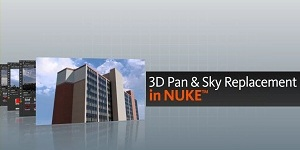 3d Pan and Tile Sky Replacement in Nuke