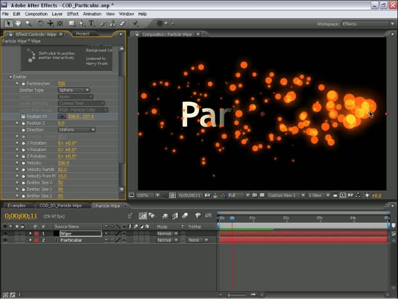 Complete Training for Trapcode Particular with Harry J. Frank
