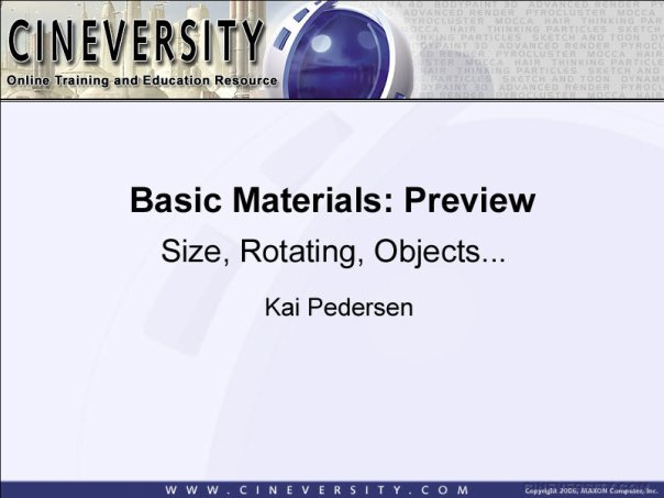 Basic Materials: Preview