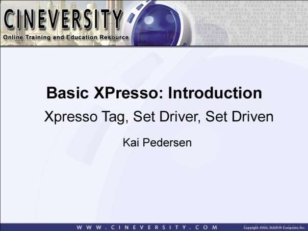 Basic Xpresso: Introduction