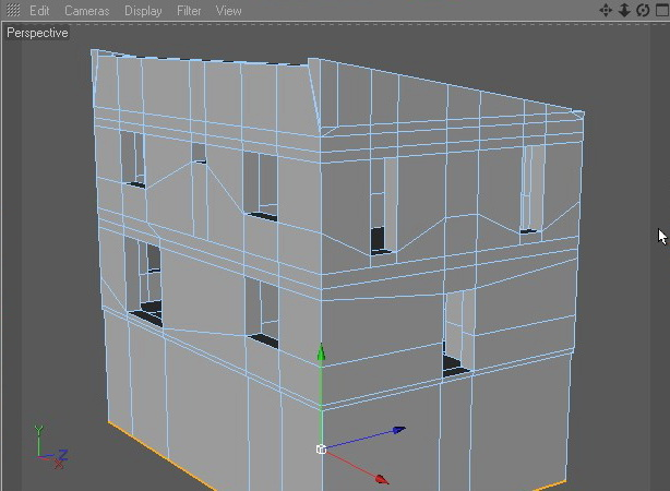 House building in Cinema 4D