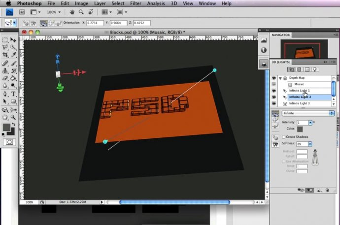 3D Text Blocks in Photoshop