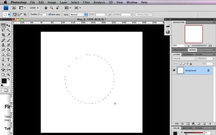 Magnifying Glass Icon in Photoshop CS4