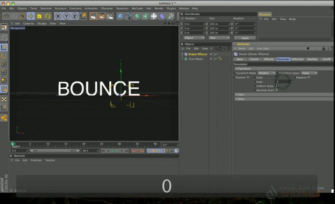 Mograph Delay Effector with Mograph Text