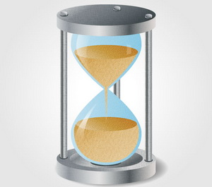 Hourglass Icon in About an Hour