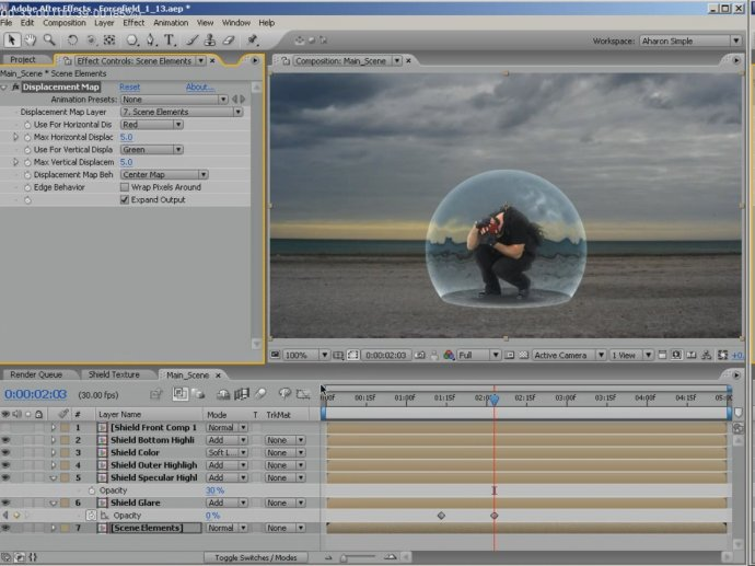 Force Field Effect in Adobe After Effects