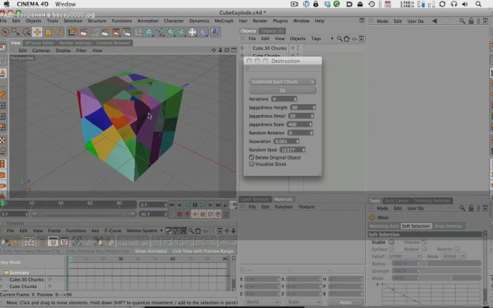 Shattering an Object with Destruction and Mograph 2