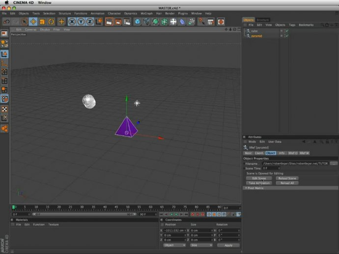 Pre-compose in Cinema 4D