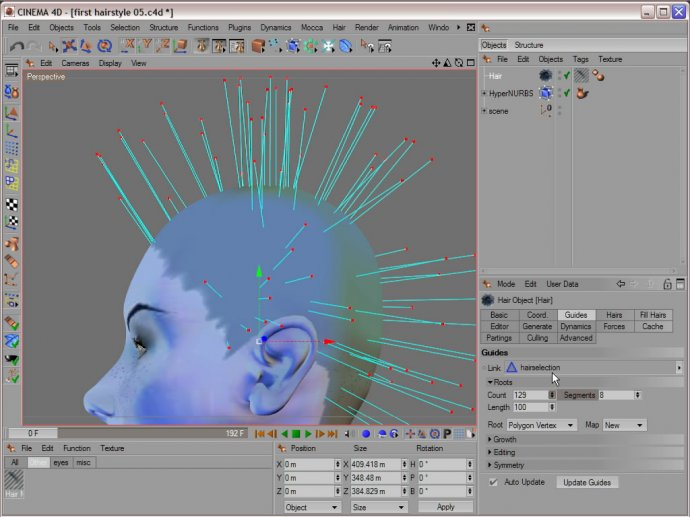 Training for CINEMA 4D -  Hair Styling & Rendering  - Volume 5