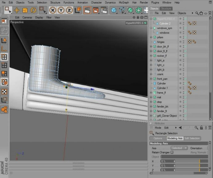 Automotive Modeling in CINEMA 4D