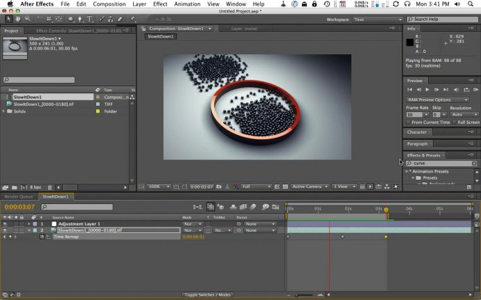 Speed Up and Slow down your scenes in Cinema 4D