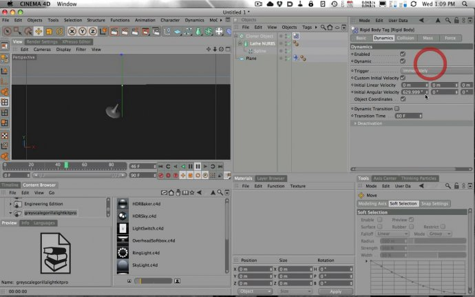 How to Animate the Inception Totem with Cinema 4D and Dynamics