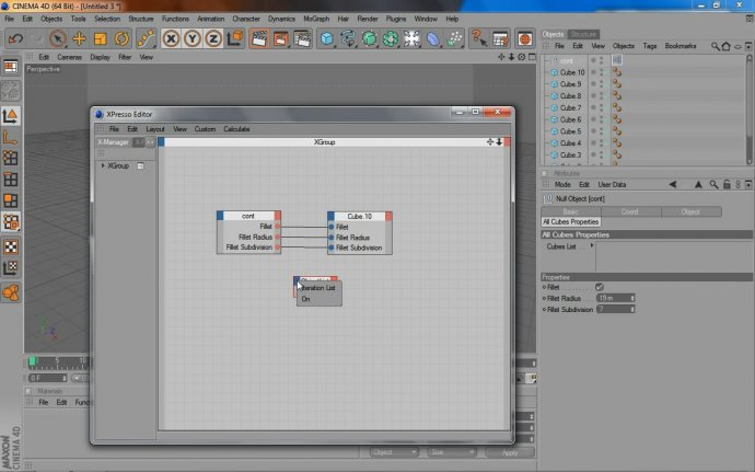 Cinema4D XPresso: Object List