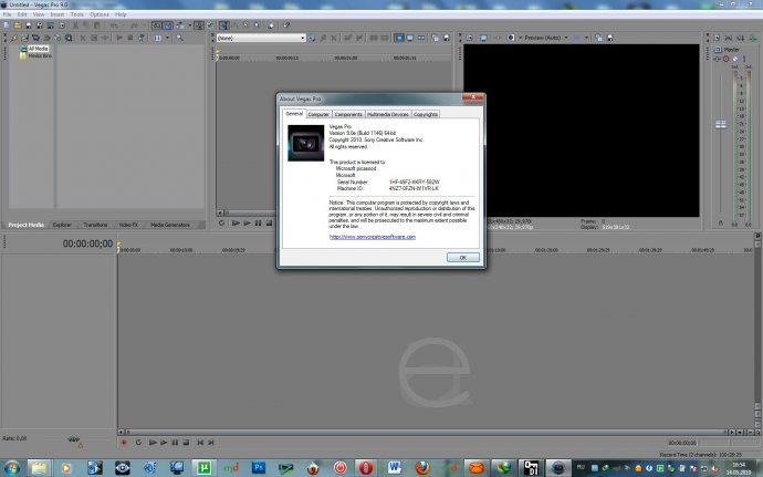 SONY Vegas Pro (3264 bit) 9.0e Build 1147 (English & Russian) + кряк +