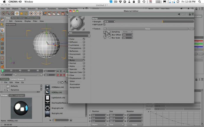 Sub Polygon Displacement in Cinema 4D