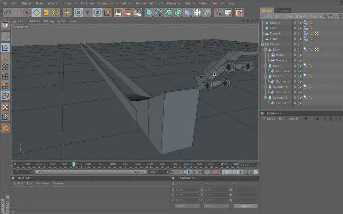 Building and Modeling A Car Driven With A Motor in Cinema 4D 12