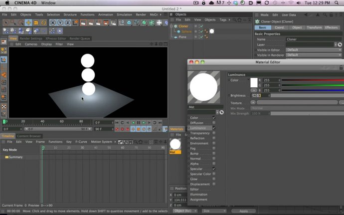 Using Textures and Objects to Light Your Scene With and Without Global Illumination in Cinema 4D