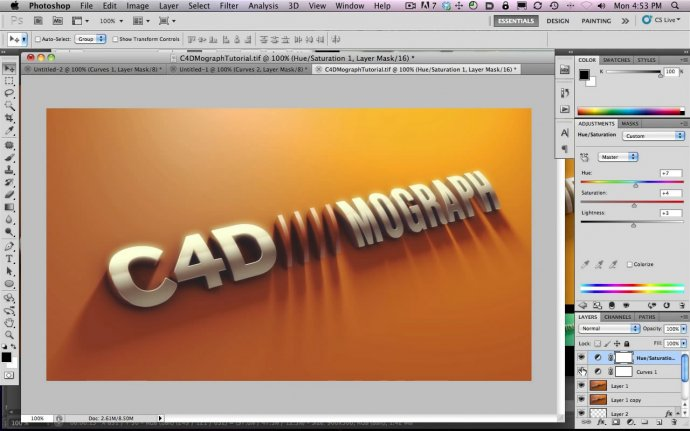 How To Make A Metal Logo Type in Cinema 4D and Photoshop