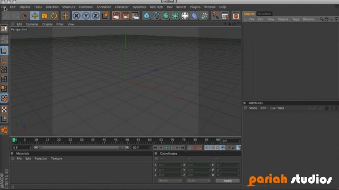Navigating the C4D interface