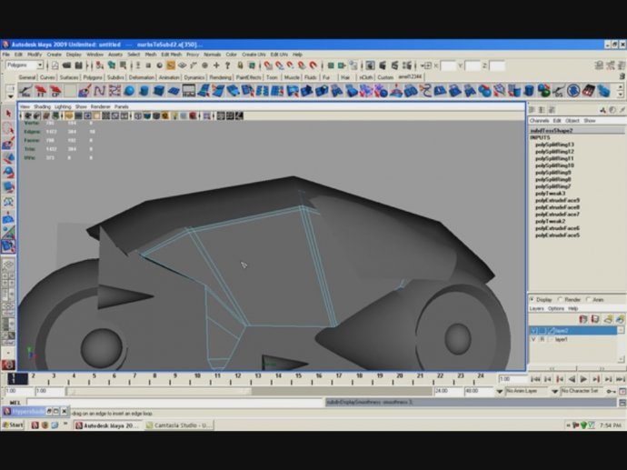 Model a Tron Light Bike in Maya