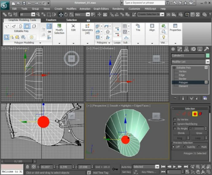 Modeling Hard Surface Curvature in 3ds Max
