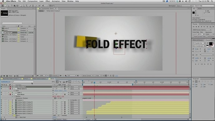 After Effects Fold Effect Tutorial