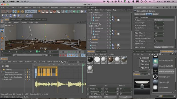 Animate and Control Lights and Dynamics with Xpresso