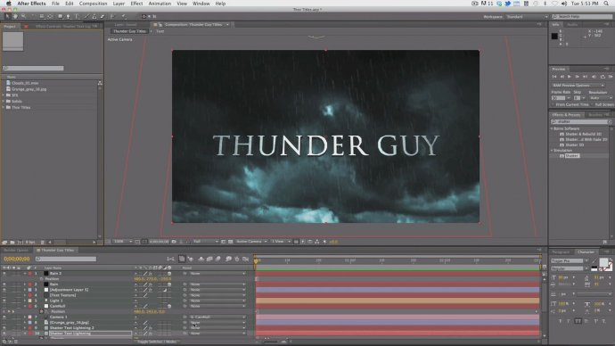 Thor Trailer Titles tutorial
