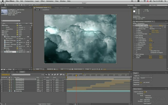 Stylized Cloud Animation