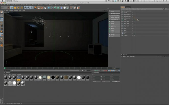 Cinema 4D r12: IES lighting