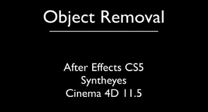VFX Object Removal Tutorial