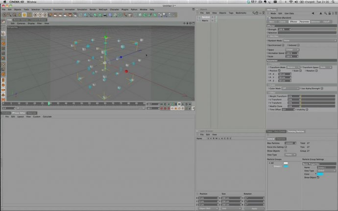 ThinkingParticles & Mograph integration
