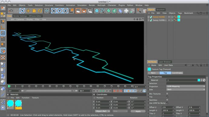 Animated edges in Cinema 4D