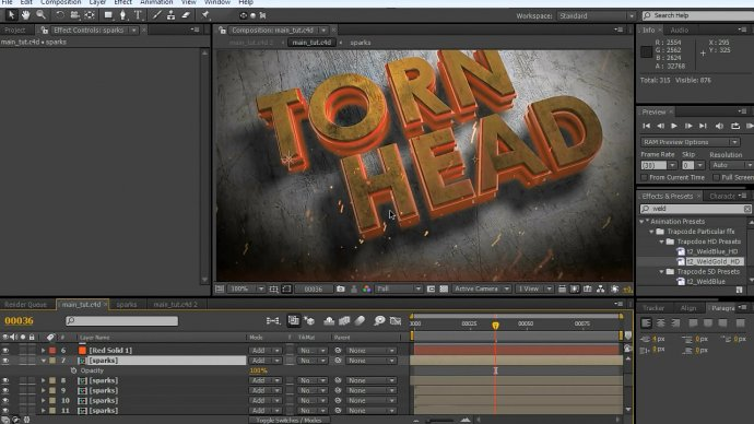 Cinema 4d + After Effects: Movie Logo