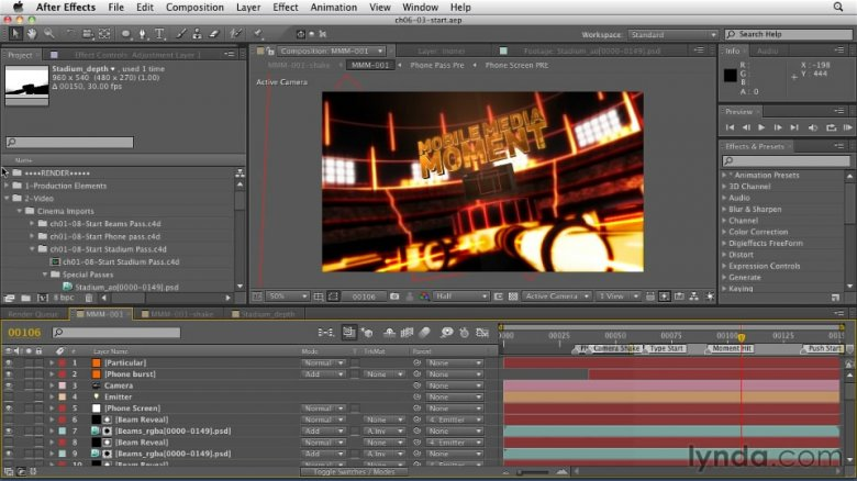 CINEMA 4D: Rendering Motion Graphics for After Effects