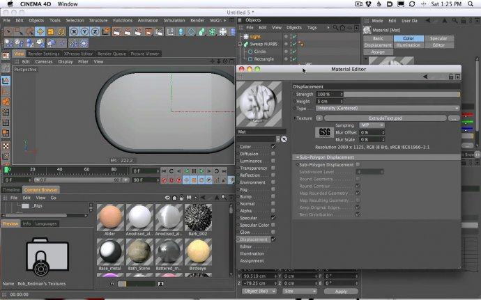 How To Model and Extrude Dog Tags In Cinema 4D