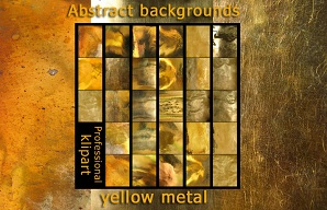 Abstract backgrounds are a yellow metal