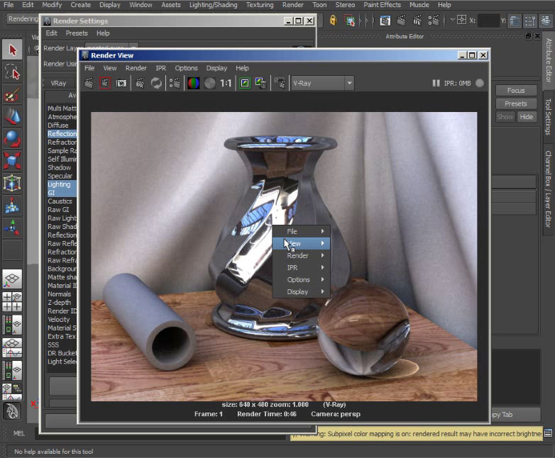 Digital Tutors - Utilizing Render Elements in V-Ray for Maya 2011