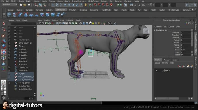 Digital tutors - Creative Development: Enhanced IK Animal Rigging with Farley Chery [2011, ENG]