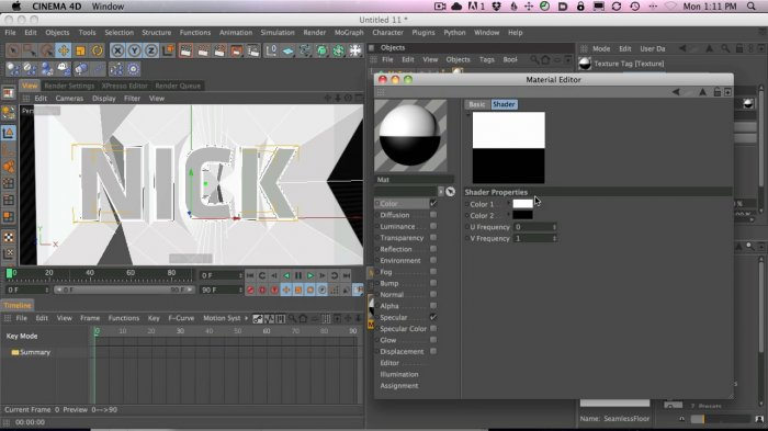 Making Striped 3D Typography in Cinema 4D