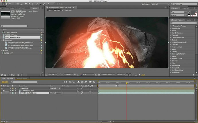 Создание титров к «Гарри Поттер 7» в Cinema 4D и After Effects