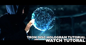 TRON IDENTITY DISC HOLOGRAM TUTORIAL