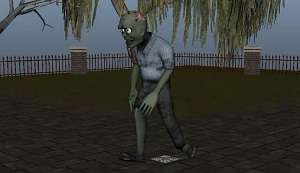 Zombie simulation using MEL