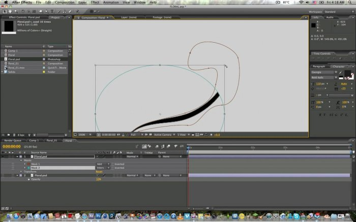 Animating Floral Element