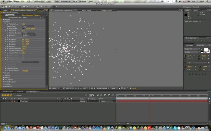 Shading Particles with Particular