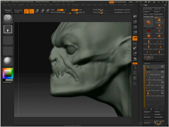 Gnomon Workshop - Sketching with Digital Clay: A Monster Head