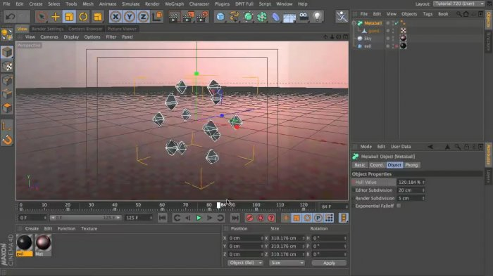 Pulse cinema 4d урок