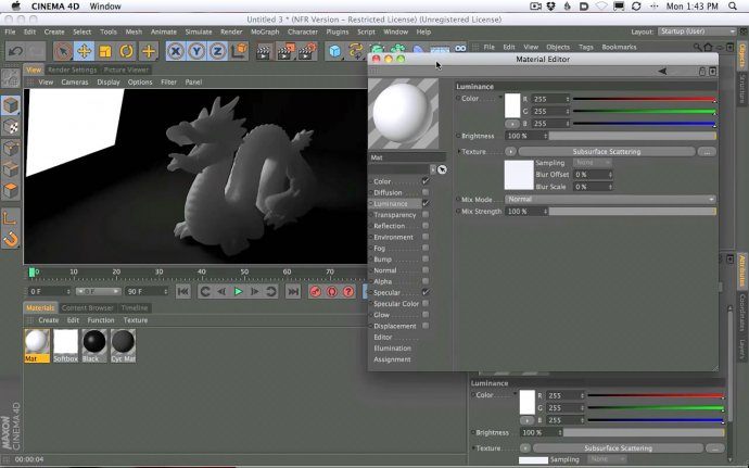 How to Setup And Use Sub Surface Scattering in Cinema 4D R13