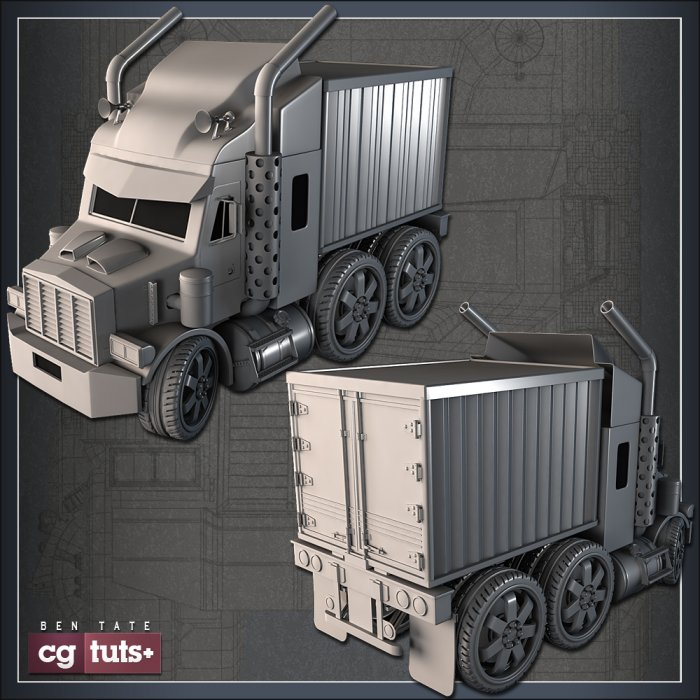 'Mini Semi Truck' Modeling