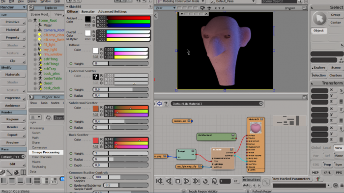 Древо рендеринга в Softimage